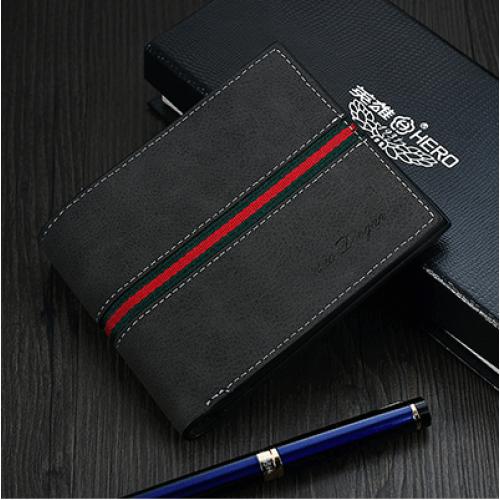 Moška denarnica Dvogan črna