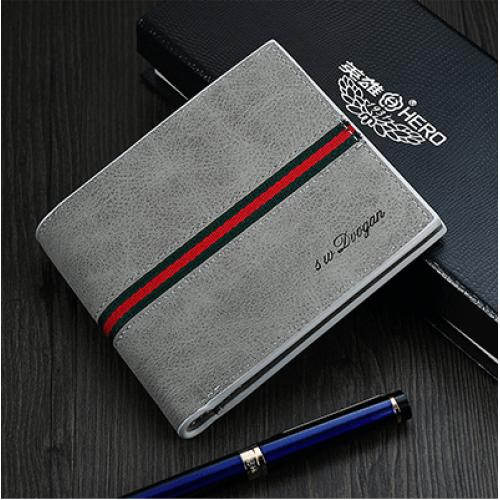 Moška denarnica Dvogan siva