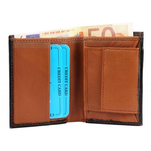 Moška denarnica Excellanc Mini Črno-Rjava