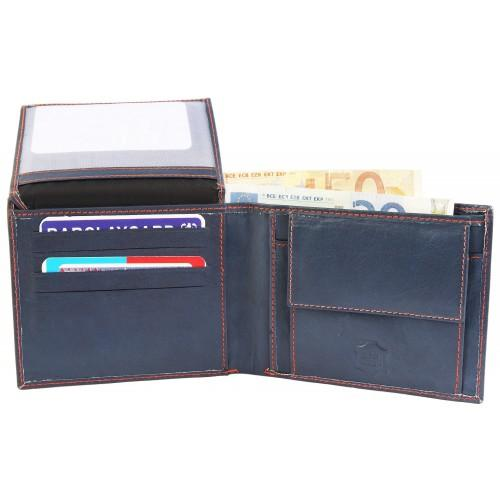 Moška denarnica Excellanc Plett modra